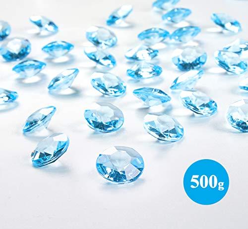 ABSOFINE Deko Diamanten 12mm Blau Acryl Kristall Diamantkristalle Dekosteine Streudeko Tischdeko Diamanten Hochzeit Dekoration