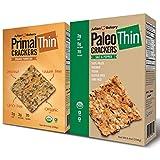 Julian Bakery Paleo & Primal Thin Crackers | Salt & Pepper & Parmesan | USDA Organic | Gluten-Free |...