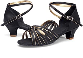 ZED- meisjes dames satijn latin dansschoenen hoge hakken balzaal performance sandalen - gezellig zachte zool standaard Sam...