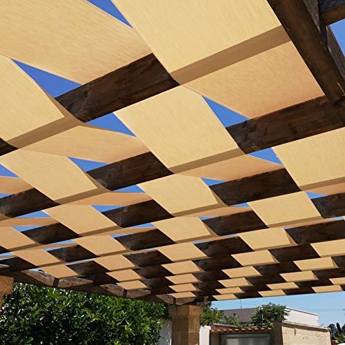Banda de sombra genérica para pérgola o cenador, estructura con cobertura trenzada o ondulada – 45 cm/60 cm – Blanco o Avana – Una cantidad = 1 metro lineal