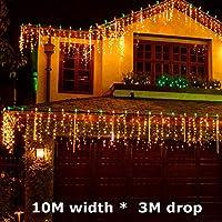 2020 Latest Design 10M x 3M LED照明LED 1000 LEDクリスマスライトクリスマスパーティーの妖精の文字列結婚式のカーテン屋外の背景110V 220V