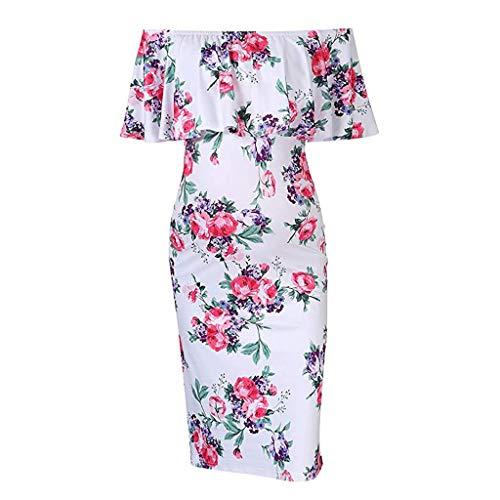 Vectry Ropa de Mujer Embarazada Vestidos Premama para Boda Cortos Vestido Midi Fiesta Vestidos de Fiesta para Bodas Cortos Vestidos Mujer Verano 2019 Casual Vestido Blanco