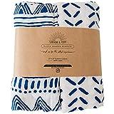 Sunshine & Poppy Muslin Baby Swaddle Blankets for Baby Boys or Girls - Stretchy Swaddle Blankets - Gender Neutral Baby Registry or Baby Shower Newborn Receiving Blankets