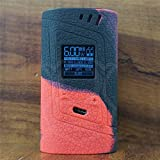 ModShield for Smok Alien 220W TC Silicone Case & TANK BAND ByJojo Skin Cover Sleeve Wrap Shield (Red/Black)