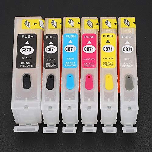Tanque de tinta, cartuchos de tinta de 5 colores para PGI-870BK para CLI-871BK