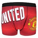 Manchester United FC Offiziell Geschenk 1 Paar Herren Wappen Boxer Shorts -