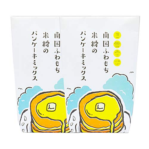 南国ふわもち米粉のパンケーキミックス2袋お得用(280g(140gx2)x2)