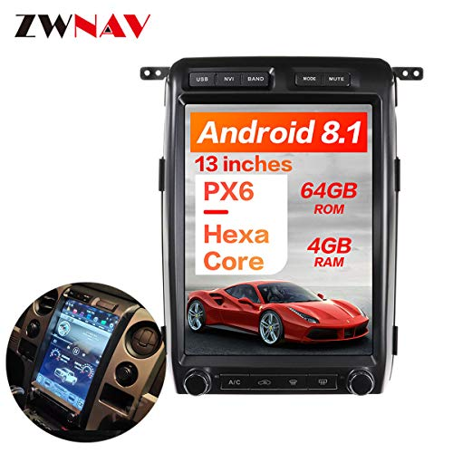Review ZWNAV 13 inch Android 8.1 New Tesla Style Car Stereo for Ford Raptor F150 2009-2012 Low Versi...