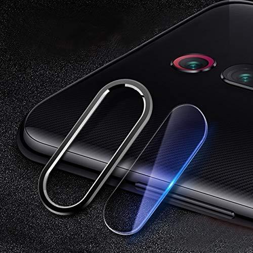 YGMO SMSE AYD Scratchproof Teléfono móvil Metal Cámara Trasera Anillo de Lente + Lente de cámara Trasera Conjunto de película Protectora para Redmi K20 (Azul) (Color : Black)