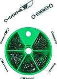 Storfisk fishing & more Dreifachwirbel Sbirulinowirbel zum Forellenangeln Sbirolino Wirbel 45 Stück