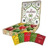 pukka coffret vitalité, idée cadeau, sélection de thés et d'infusions biologiques et ayurvédiques