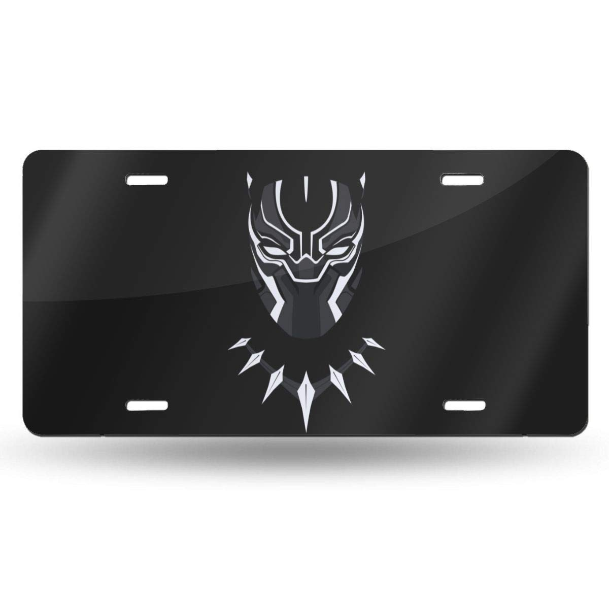 ZhSeHhats Black Panther Metal License Plate - Soccer Team Design Novelty Home Decoration Car Tags - 6 x 12 inch