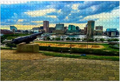 American Civil war Confederate Battle Flag Cannon and Limber Rompecabezas grandes de 500 piezas para adultos Juguete educativo para adultos Niños Juego de rompecabezas grande Juguetes Gift-PUZZLE9