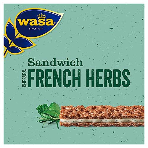 Wasa Sandwich Käse und Feine Kräuter Singlepack, 24er Pack (24 x 30 g)