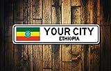 qidushop Äthiopien Flagge Schild Äthiopien Souvenir