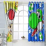 Super Mario Bros - Cortinas decorativas para dormitorio (63 x 63 cm), diseño de Super Mario Bros Yoshi