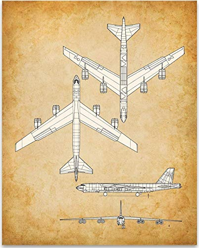 Boeing B-52 Aircraft - 11x14 Unframed Patent Print - Great Gift Under $15 for Aviation Geeks