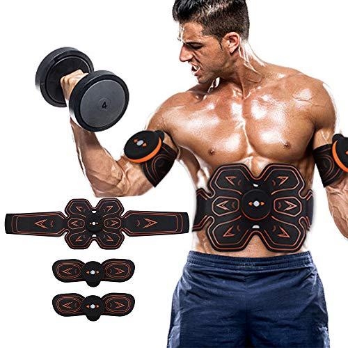 Electroestimulador ABS/EMS Estimulador Muscular Recargable Inalámbrico Abdominal Entrenador de electroestimulacion Smart Fitness Masaje Pegatina Cinturón de pérdida de Cuerpo Cinturón Adelgazante