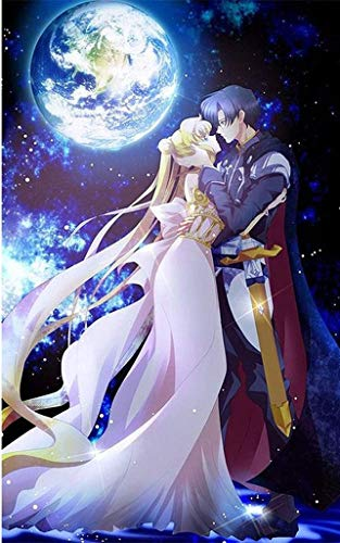 5D DIY Diamond Painting Sailor Moon 16x20 inches Round Drill Rhinestone Embroidery for Wall Decoration