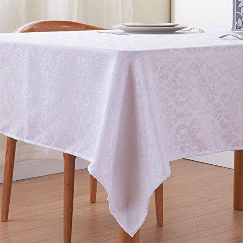 Moderne Minimalist Tischdecken Polyester Jacquard Weiß Rechteckige Hotel Tischdecken Restaurant Tischdecken Couchtische Stoffe Home Esstisch Tischdecken Weiß, Verschiedene Größen,XXXL