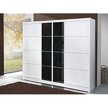 Armario puerta corredera de 250 cm, ancho PORTO blanco por DAKO: Amazon.es: Hogar