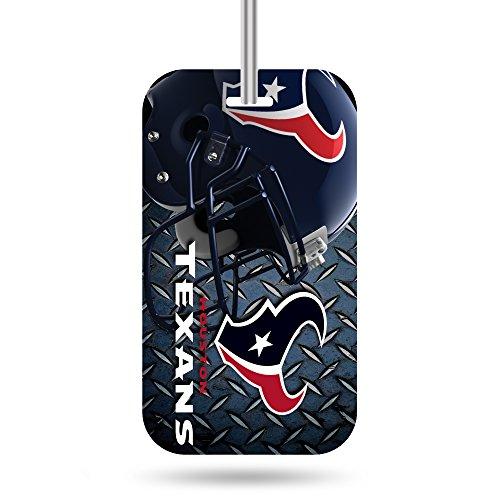 NFL Rico Industries  Plastic Team Luggage Tag, Houston Texans
