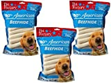 Pet Factory (3 Pack) U.S.A. Beef Hide Chip Rolls Chews for Dogs, Small/5' (54 Rolls Total - 18 per Package)