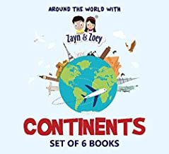 Zayn and Zoey Continents - Set of 6 Books (America, South Asia, Africa, North America, Australia, Europe) - Educational St...