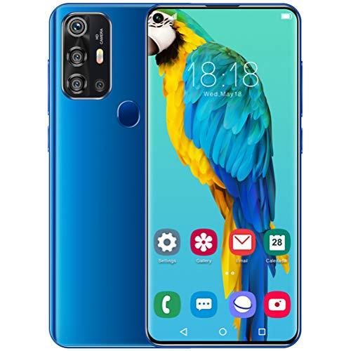 ZXYSR V19pro Cellulari Offerte (2020), 7.2 HD+ Schermo 6GB RAM 64GB Rom 5000Mah Fotocamera Telefonini 18MP+48MP 4G Android 10.0 Dual SIM Sblocco con Impronta Digitale Posteriore, Telefonino,Blu
