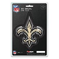 FANMATS NFL - New Orleans Saints 3D Team Logo Decal, Old Gold, One Size