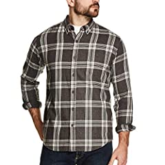 Yarn dyed flannel plaids Brushed fabric for softness 1 chest pocket with button closure & double button cuffs Locker loop on interior neck taping Machine washable