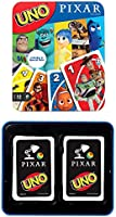 UNO Pixar 25th Anniversary Card Game with 112 Cards & Instructions in Storage Tin for Players 7 Years & Older, Gift for...