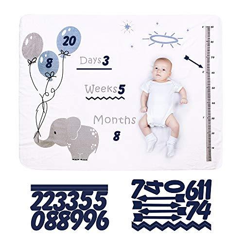 120 * 150CM Baby Monats Decke für Jungen und Mädchen, Baby Meilenstein Decke Fotodecke für Neugeborene Fotografie Requisiten Shoots Hintergrund Tuch