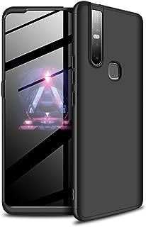 Ronshin For VIVO S1/V15 Ultra Slim PC Back Cover Non-slip Shockproof 360 Degree Full Protective Case black VIVO S1/V15