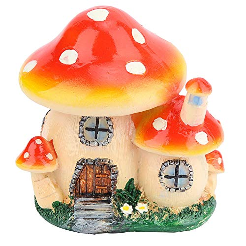 Colorful Safe and Durable Non-Toxic Garden Ornament, Miniature Plant House Mushroom Shape 9.5 cm / 3.74 inc for Bay Kids Toys Park Decoration