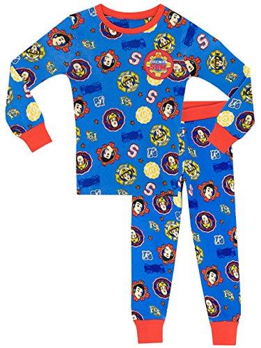Fireman Sam - Pijama para Niños - Sam el Bombero - Ajuste Ceñido - 6-7 Años