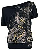Rock Rebel by EMP Can You Read My Mind Mujer Camiseta Negro M, 95% Viscosa, 5% elastán, Stickerei Ancho