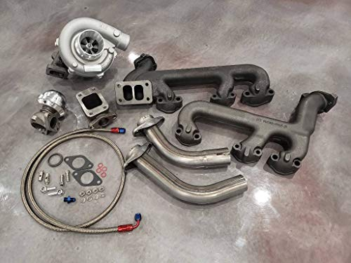 GM 4.3L Turbo Kit Hot Parts T3 Cast 4.3 GMC Chevy Turbocharger V6 Wastegate Oil