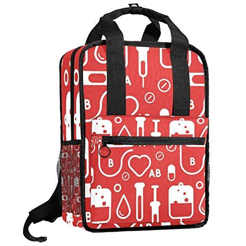 AITAI Mochila tipo dibujo de sangre, para adolescentes, universidad, bolsa de viaje