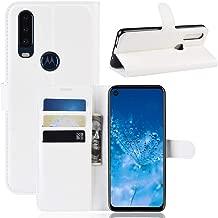 Custodia® Flip Wallet Case for Motorola P40 Power (White)