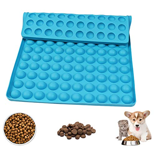 Silikon Backmatte für Hundeleckerlie - Halbkugel Silikon Backmatten,Hitzebeständig Antihaftend,Mehrzweck Wiederverwendbare Backformen aus Silikon,Lebensmittelecht Bpa-frei Backform (Blau)