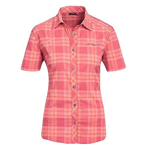 maier sports damska bluzka funkcyjna Sana S/S, czerwono-pomarańczowa, 36