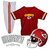 Franklin Sports Kansas City Chiefs Kids Football Uniform Set - NFL Youth Football Costume for Boys & Girls - Set Includes Helmet, Jersey & Pants - Small