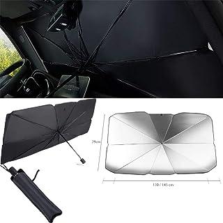 Keeps Vehicle Cool for Ultimate UV//Sun Protection Car Window Sunshades Foldable Auto Sunshades Shade with Storage Bag JKHK Car Windshield Sun Shade Umbrella