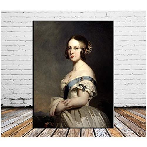 Queen Victoria Canvas Schilderij Woonkamer Home Decor Moderne muurschildering Schilderij Print op doek-50x70cmx1pcs -Geen Frame