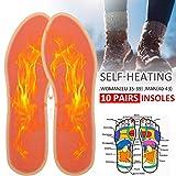 Calentador de pies para invierno con suela caliente, lavable para mantener los pies cálidos para zapatos y botas