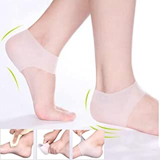 1 Pair Silicone Foot Chapped Care Tool Moisturizing Gel Heel Socks Cracked Skin Protector Pedicure Health Monitors Massager