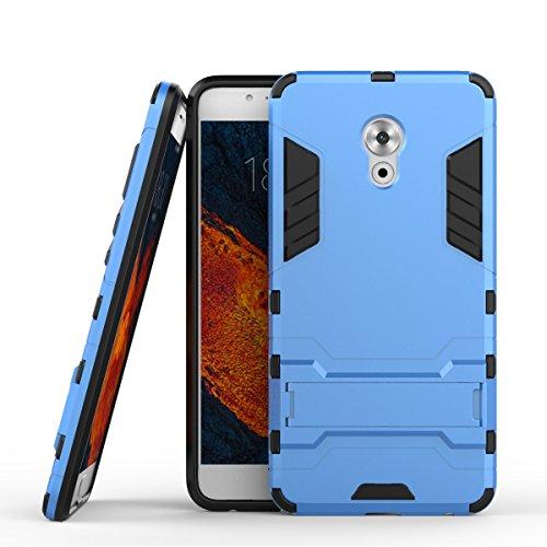 Tasche für Meizu Pro 6 Plus Hülle, Ycloud das stärkste Handy Shock Proof Armor Dual Schutzabdeckung Hochfeste PC Kunststoffoberschale Shockproof mit Halterung Schutzabdeckung Blau