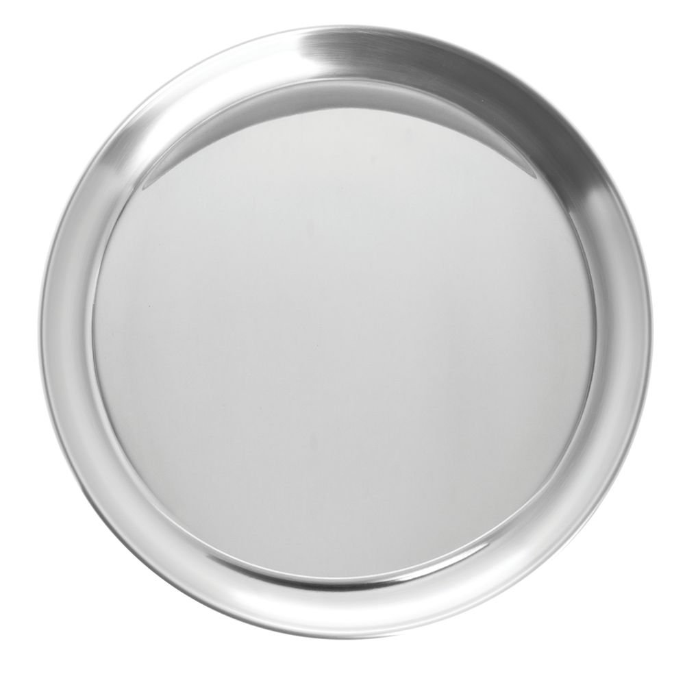 Serving Tray Round 25% OFF Silver Stainless Dia - Steel 10