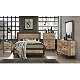 Bedroom Furniture Set Distressed Wood King, Queen or Full Size Bed, Nightstands & Dressers Available (Full Bed a476c) - All Items Sold Separately